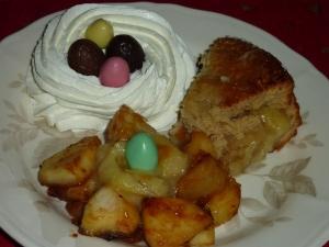 dessert improvisé avec mon gateau lapin 012
