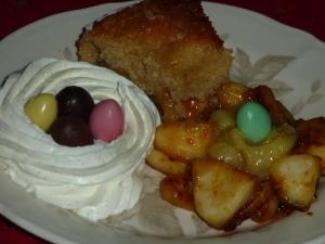 dessert improvisé avec mon gateau lapin 018