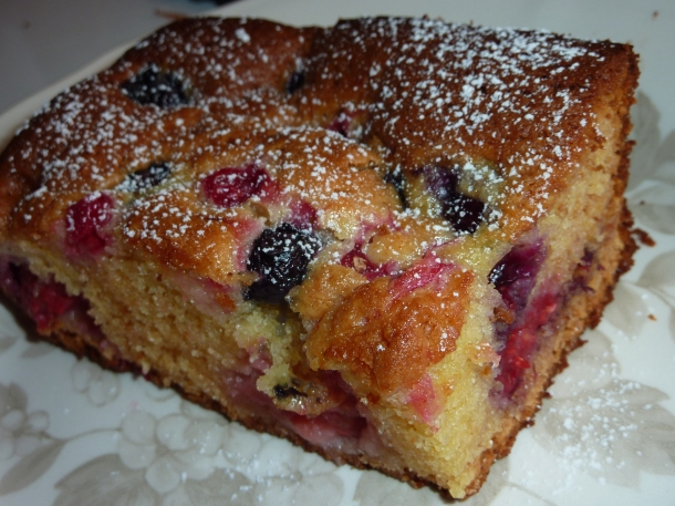 Blondies aux fruits rouges 017
