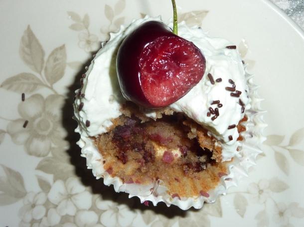 muffins chocolatés aux griottes 028